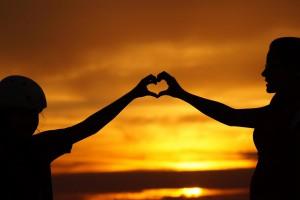 family hand heart